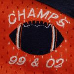 Champs 99 & 02 embroidery closeup