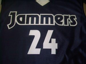 Jammers logo sports jersey