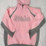 Pink Stitched hoodie