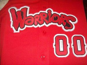Warrriors red jersey