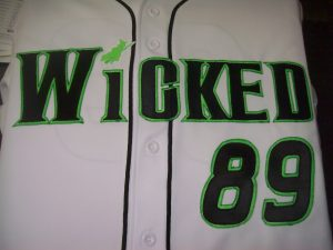 Jersey with Wicked embroidered on it