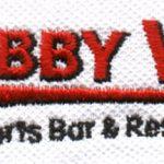 Bobby V's logo embroidered